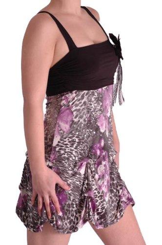 EyeCatch - Robe courte mini sans manches imprimé - Femme Multicolore