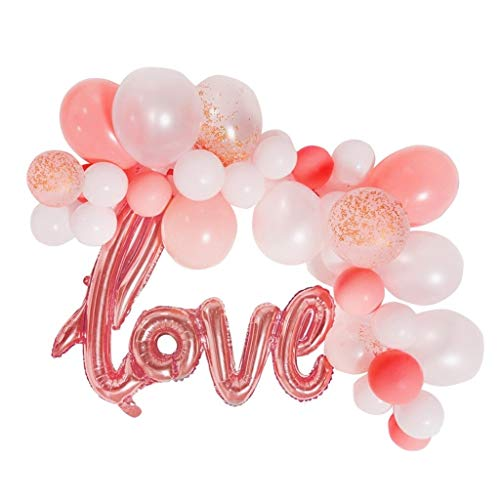 XUZg-balloons Latex-Ballon, dekorativer Ballon der Geburtstags-heiraten-Partei die Mall-Feiertags-Fenster-Ballon-Dekoration (Color : B)
