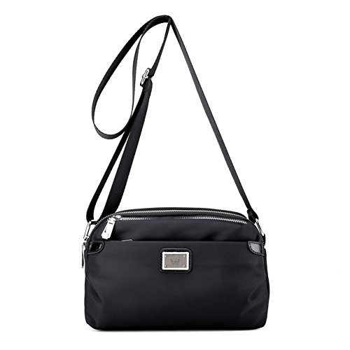 Ladies singola borsa a tracolla,messenger bag,borsa di tela,pacchetto viaggi piccola festa-nero nero