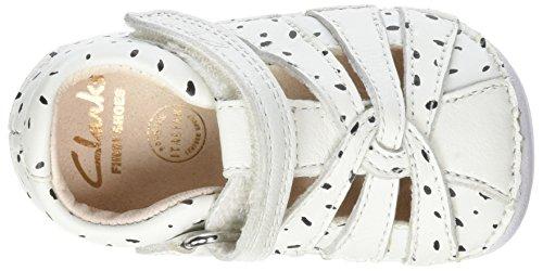 Clarks Little Mae, Scarpe per Gattonare Bimba Bianco (White)