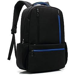 """UBaymax mochila ligero impermeable anti-robo de seguridad portátil bolsa, mochila de negocios, a prueba de choques Daypack lienzo, 15,6 """"mochila para hombres mujeres, trabajo, viajes, universidad (15.6 inch Negro)"""
