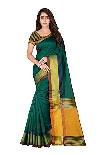 Indian Bollywood Wedding Saree indisch Ethnic Hochzeit Sari New Kleid Damen Casual Tuch Birthday Crop top mädchen Cotton Silk Women Plain Traditional Party wear Readymade Kostüm (Ant iris Green) -