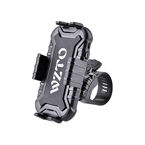 WZTO Supporto Bici Smartphone, Borsa da Manubrio per Biciclette Porta Cellulare Bici Universale Compatibile Ruotabile a 360°,Supporto Telefono per Bicicletta Ciclismo e Altri Dispositivi Elettronici