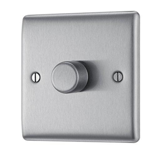 BG Electrical NBS81P Acero pulido interruptor de luz - Interruptores de luz...