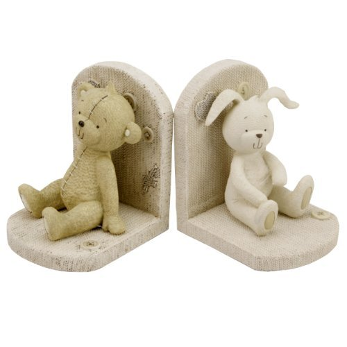 Button Corner Baby Resin Bookends Teddy Bear & Rabbit by Button Corner