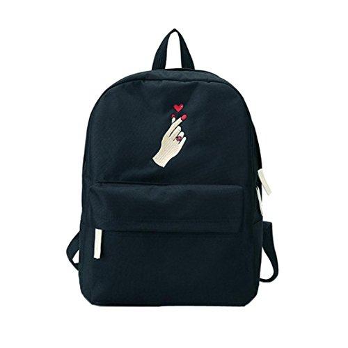 squarex _ Frauen Leinwand Exquisite Stickereien Schule Bag Travel Rucksack Herren Tasche (Für Verkauf Coach-taschen Frauen)