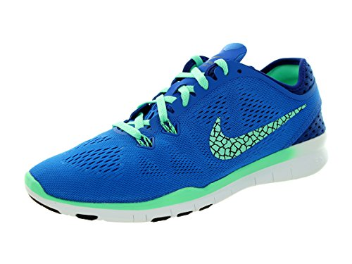 Nike W Free 5.0 Tr Fit 5 Brthe, Scarpe sportive, Donna Blu (Blau (soar/green glow-deep royal blue-black))