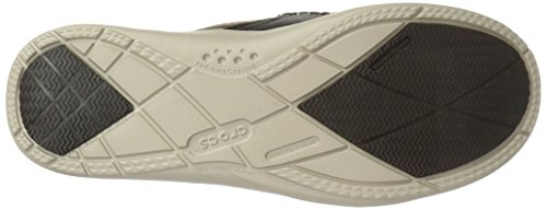 Crocs Herren Walu Luxe Leder Slip-On Loafer Espresso/Mushroom