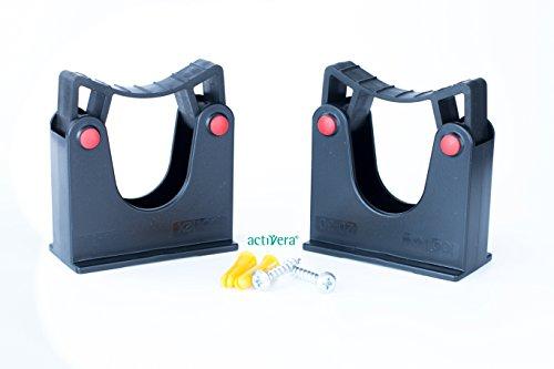 Werkzeughalterung Doppelpack Wandhalter Universalhalterung für Rohrdurchmesser 20-30mm Farbe...
