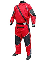 Level Six Triton Drysuit traje seco Kayak traje de kayak traje de buceo color rojo