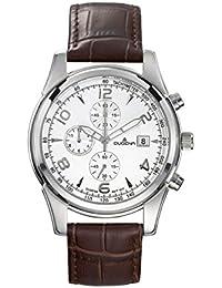 Dugena Herren-Armbanduhr Chronograph - Sport Line Analog Quarz Leder 4460349
