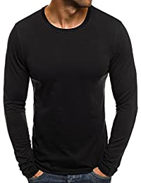 OZONEE Mix Herren Longsleeve Langarmshirt Sweatshirt Motiv Basic Fitness Sport Gym Training Täglichen Crewneck Modern Streetwear J.Style 2088