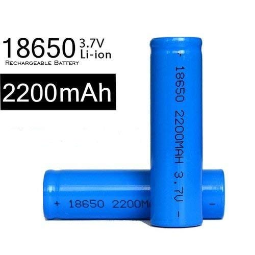 Breewell New 18650 Battery 2200 mAh Rechargeable Lithium-Ion Battery (Blue) – 1PCS