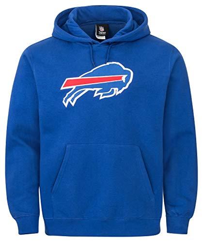 Majestic NFL Buffalo Bills Tek Patch Hoody Hooded Sweater Kaputzenpullover (X-Large) -