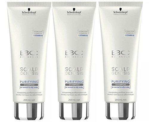 Schwarzkopf 3 er Pack Schwarzkopf BC Scalp Genesis Purifying Shampoo 200ml -