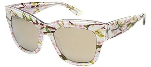 Dolce & Gabbana Damen Cat-Eye Sonnebrille 28436G: Aqua/Peach Flowers 54 mm