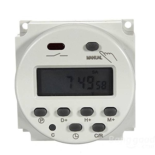 mark8shop Digital CN101A Power programmierbarer Timer Schalter 16A 110V/220V-240V (110-volt-timer)