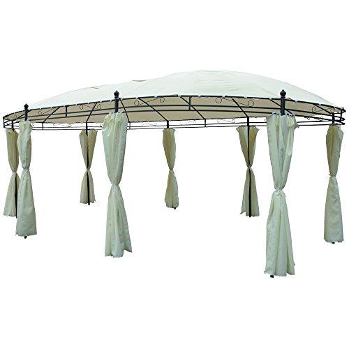 Pavillon oval 530x350cm beige Gartenzelt Gartenzelt Pavillion Gartenlaube
