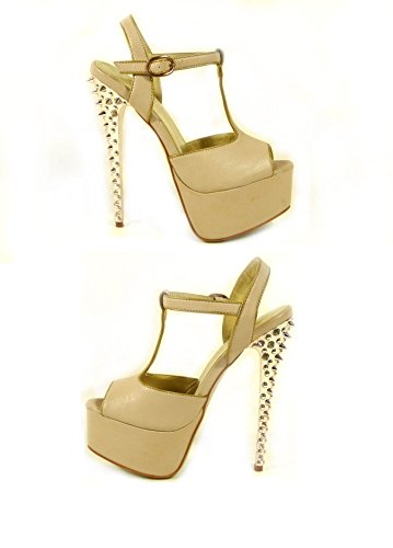 SKO'S  Various designs exclusively low prices !, Escarpins pour femme Beige (5741-38)
