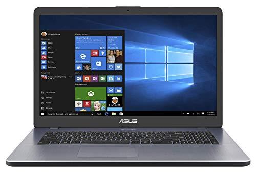 "Asus Vivobook R702UA-BX647T PC portable 17"" Gris Clair (Intel Pentium, 4 Go de RAM, 1 to + SSD 128, Windows 10) Clavier AZERTY Français"