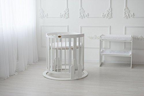 Preisvergleich Produktbild ComfortBaby ® SmartGrow 7in1 Baby- Kinderbett / erweiterbar, multifunktionell, aus MASSIVHOLZ ( beige) HERGESTELLT IN DER EU ( NEUES MODELL )