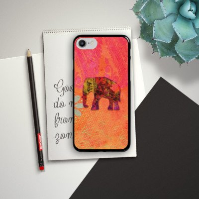 Apple iPhone X Silikon Hülle Case Schutzhülle Elefant Goa Indien Hard Case schwarz