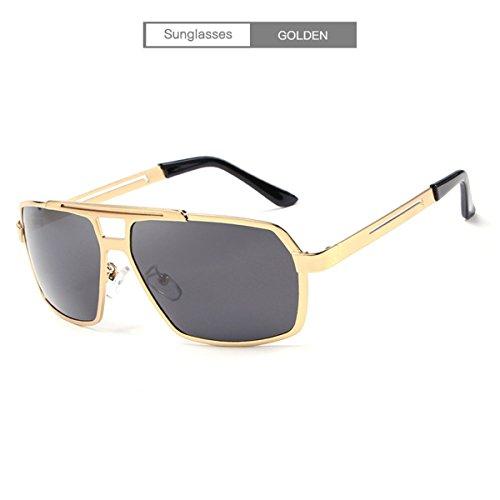 DYEWD occhiali da sole,Occhiali da sole da uomo, Occhiali da sole fashion, Occhiali da sole polarizzati, Occhiali da sole con montatura grande, Occhiali da guida, Occhiali da sole per esterni, Occhiali da sole con protezione UV, Oro
