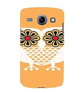 PrintVisa Flower Owl Art 3D Hard Polycarbonate Designer Back Case Cover for Samsung Galaxy Core i8262