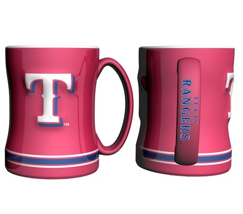 Hall of Fame Memorabilia Texas Rangers Kaffee Tasse - 444 ml modellierte, Rot -