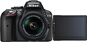Nikon D5300 Digital SLR Camera - Black (24.2 MP, AF-P 18-55VR Lens Kit) 3-Inch LCD Screen