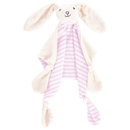 JoJo Maman Bébé B6497PINONE - Doudou con coniglietto, colore: rosa