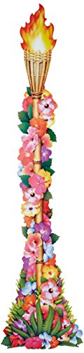 Beistle 50468 Jointed Floral Tiki Taschenlampe, 4-feet (Pool-party Feet)