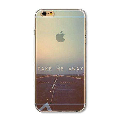 Coque iPhone 6 6s Housse étui-Case Transparent Liquid Crystal en TPU Silicone Clair,Protection Ultra Mince Premium,Coque Prime pour iPhone 6 6s-Paysage-style 1 2