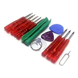 Acentix® - 15 in 1 Repair Opening Tools Kit Screwdriver Set For iPhone 3,3GS,4,4S,5,5S iPad iPod Samsung Nokia HTC NDS & PSP