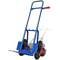 Furnituredeals Carretilla de Transporte de Coches Carretilla de carga para 150 kg con 6 ruedas, azul - roja Carrito de herramientas