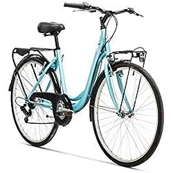 "AFX Bicicleta Urbana Mixta 26"" Helsinki, Color Azul claro"