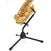 schwarzer Alt- und Tenor Metall Saxophonständer