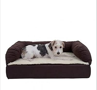 Brown & Beige Relaxing Sofa by eCommerce Excellence - Ideal For Senior Dogs - Your Dog Will Appreciate This Comfortable Bed