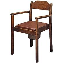 Silla con Inodoro (Madera oscura, inodoro silla, Noche silla