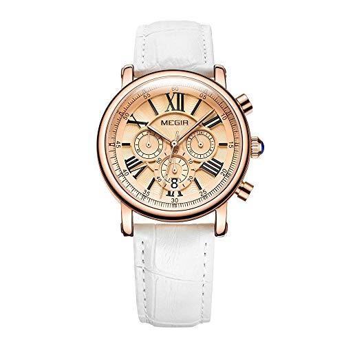 Reloj De Cuarzo para Mujer Reloj Casual De Cuarzo para Damas Fecha Automática Cinturón De Moda De...