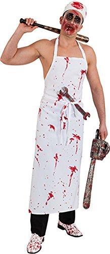 (Orlob Blut Schürze zum Herren Kostüm blutiger Horror Metzger zu Halloween)