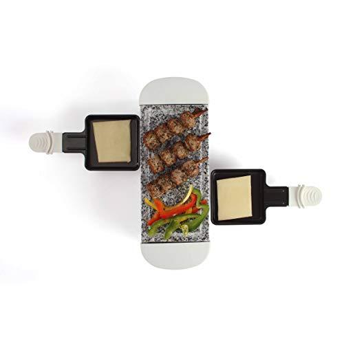 LIVOO DOC156W Appareil à Raclette Blanc 2 Personnes , 350