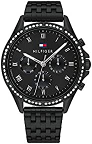 Tommy Hilfiger Women'S Black Dial Ionic Plated Black Steel Watch - 178