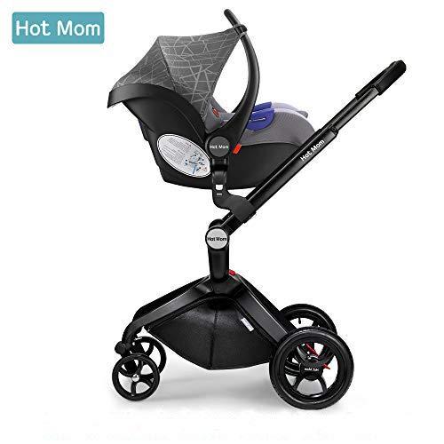 Hot Mom Siège Auto Groupe 0 + (0–13 kg),Gris image0