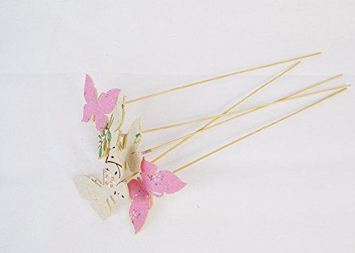 Pz 32 pick farfalla in tessuto con molla decorazioni e addobbi primavera pasqua