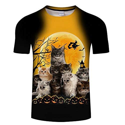 Crazy Hawaii-hemden (NSDX Herren 3D T-Shirt Das Neue Sommer T-Shirt Mit Kurzarm-Print Für Männer Und Frauen, Mit Graffiti Und Lustigem Katzen-T-Shirt Für Männer In Asiatischer Größe)