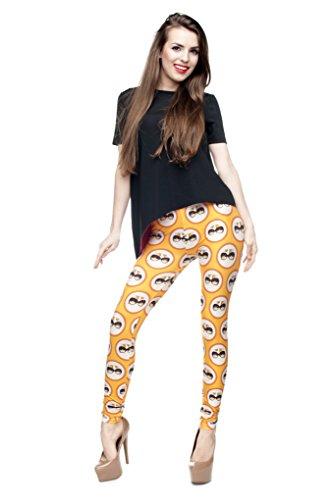 Femmes Mesdames Leggings Longueur complet extensible Collants Pantalon pour ne pas voir à travers Fitness Yoga Running Hipster UK 81012 Multicolore - YELLOW CAT
