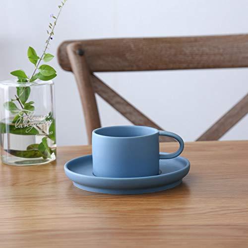 ZKGHJOKZ Becher Tasse 200 ml Keramik Drinkware Kaffeetassen Und Becher Porzellan Untertassen Sets Kaffeetasse Büro Tassen Frühstück Milch Tasse