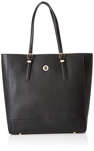 Tommy Hilfiger Damen Honey Finegrain Work Bag Laptop Tasche, Schwarz (Black), 13x33x32 cm - Schwarze Laptop-tasche 13