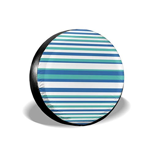 BBABYY Tire Cover Tire Cover Wheel Covers,Abstract Floral Mosaic Like Image Round Horizontal Circles Image,for SUV Truck Camper Travel Trailer Accessories 16 inch
